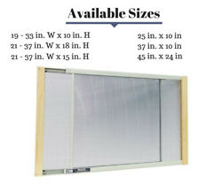 Window Screen Curtain Insect Net Anti Pest Wood Aluminum Adjustable Size Clear
