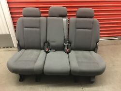 Ford F150 Year 1999 Bench Rear Seat Gray Cloth - Police Responder Truck