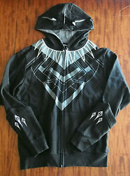 SDCC 2016 BLACK PANTHER Character Costume Cosplay Hoodie MEDIUM Marvel Avengers