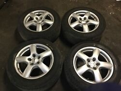 03-10 Porsche Cayenne S Set Of 4 Alloy Wheel Rim 8.5x18h2 Rial And Tire Oem