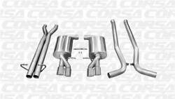 For 2005-2009 Audi S4 B7 Corsa Polished Sport 2.5 Cat-back Twin 3.0 Tips 14540