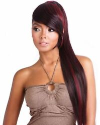 Ytbt01 - Super Long Straight Yaky Ponytail With A Bang - Mane Concept
