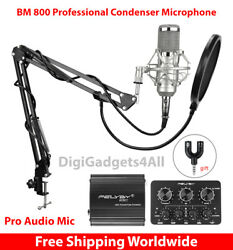 BM 800 Professional Condenser Microphone For Computer Audio Studio Vocal Best HQ