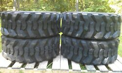 4 New Loadmax 12-16.5 Skid Steer Tires - 12 Ply - For Cat New Holland And Others