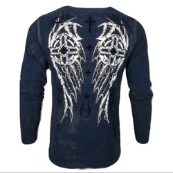 Xtreme Couture By Affliction Menand039s T-shirt Darker Side Thermal Biker Mma S-2x