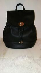FOREVER 21 Women's Black Faux Leather Backpack Purse