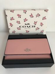 NIB!!!Coach Leather Cell Phone Crossbody Bag In Peony MSRP$135