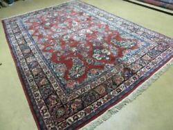 6and039 X 9and039 Antique 1940 Hand Made India Floral Oriental Wool Rug Carpet Organic Wow