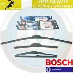 FOR HONDA CIVIC 2.0 TYPE R EP3 FRONT BOSCH AERO FLAT BLADE REAR PLASTIC WIPERS