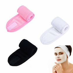 3pcs Towelling Hair Turban Adjustable Head Band Wrap for Makeup Salon Spa Facial