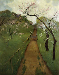 Spring Landscape By Arthur Wesley Dow Giclee Canvas Print Repro