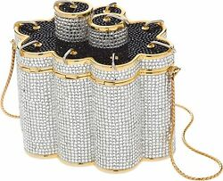Judith Leiber Chinese Fireworks Gold Minaudiere Evening Bag Clutch Vintage