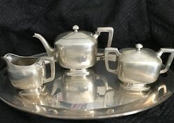 Antique Wm Wise And Son Sterling Silver Tea Set