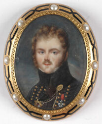 Jean-baptiste Isabey-circle French Hussar Officer, High Quality Miniature,1810