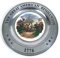 The Great American Revolution 1776 Pewter Canton Ohio Decorative Plate A12