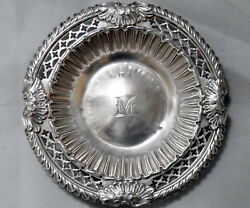Antique 1894 Sterling Silver Sheffield Cooper Brothers Low Bowl