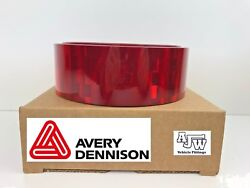 1 Meter X 55mm Red Reflective Conspicuity Tape Ece104 Avery Vtec Truck Lorry