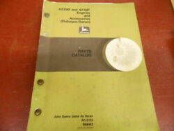 1986 John Deere Parts Catalog 4239d And 4239t Engines And Accessories