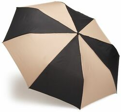 totes Auto Open Close Golf Size Umbrella  BlackBritish Tan  One Size