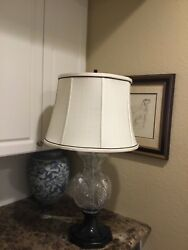 """Mint Waterford Crystal Seahorse Electric Table Lamp 31"""" - Very Rare - Huge"""