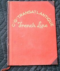 Vintage Cgt French Line Large Board Menu Cover