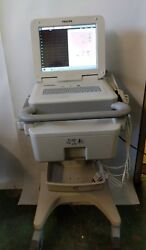 Philips Pagewriter Tc70 Ecg Cardiograph W/leads Power Adapter And Rolling Cart