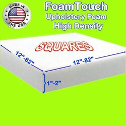 Foamtouch High Density Square Foam Sheets 1-2 Thick, 12-82 Sides Custom Cut