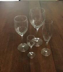 Orrefors Prelude Crystal Stemware - 8 4-piece Services 32 Pieces