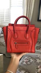 100% authentic Celine Nano Luggage Bag With Strap