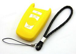 Yellow Silicone Case Cover Fit For BMW 2 5 7 Remote Smart Key 4 Buttons B7YE
