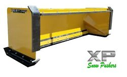 8and039 Xp30 Cat Yellow Pullback Snow Pusher W/ Front Shoes-skid Steer- Local Pick Up