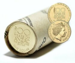 2016 100 Years Of Anzac Aus 1 One Dollar - Spirit Lives Ram Roll Only 5k Made