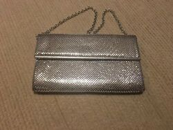 Vintage Whiting amp; Davis Mesh Silver Evening Bag $34.99