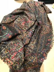 Box Lot 18 Scarves Shawls Ascots Some Silk And Wool