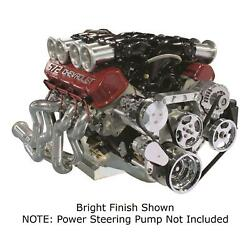 Front Runner Serpentine Kit Bb Chevy Black And Chrome Ac Alt Ps No Pump 172024
