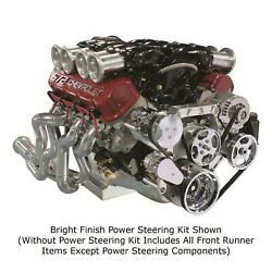 Front Runner Drive Serpentine Kit Bb Chevy Black And Chrome Ac, Alt No Ps 172025