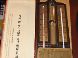 Vintage Ohio Home Hygrometer Thermometer C-624 In Original Box With Instructions