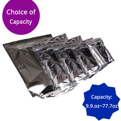9.9oz 77.7oz For Double-side Shiny Silver Foil Stand Up Zip Lock Bags 010