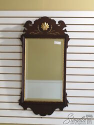 33741 Friedman Brothers 6525 Chippendale Mahogany Shell Carved Mirror - New