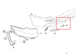 Genuine Bmw Left Or Right Side Rear Tow Hook Cover X5 E70 07/2008 Andmdash 06/2013 W/ M