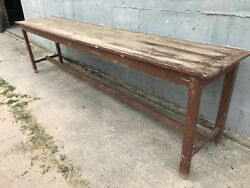 3.1m Long French Antique Table Shop Display Vintage Console Original