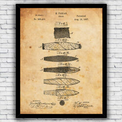 Cigar Rolling Tobacco Vintage Patent Art Print Decor - Size And Frame Options