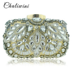 New Crystal Lady Purses And Handbags Rhinestone Evening Clutching Party Bags