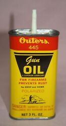 Vintage Outers 445 Gun Oil Polarized Prevent Rusts Handy Oiler 3 Oz. Tin / Can