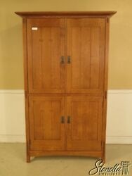 29375 Stickley Mission Oak Arts And Crafts Tv Armoire