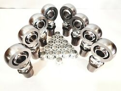 1 1/4 4link Kit Hex Bungs With High Misalignment Spacers 1.25 Heim Joint 4l+4r