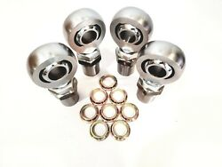 1 1/4 4link Kit Hex Bungs With Rod End Spacers 1.25 Heim Joint 2l+2r