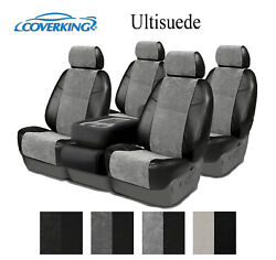 Coverking Custom Seat Covers Alcantara Front and Rear Row - 4 Color Options