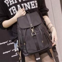 Casual Backpack For Teen Girls Canvas Solid Shoulder School Bags Travel Rucksack