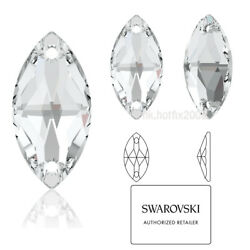 Any Size 3223 Navette Crystal Clear 001 Sew On 2 Hole Rhinestone